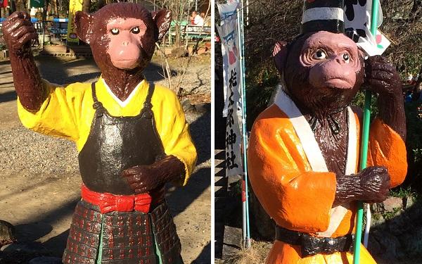 桃太郎神社のサル