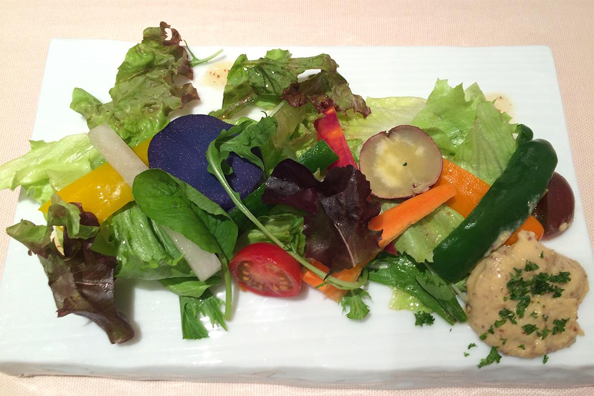 季節野菜とお豆のソース