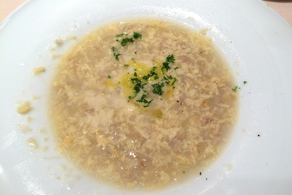 大麦と新玉ねぎのスープ