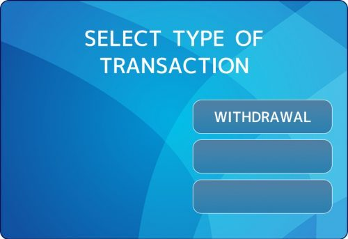 取引内容選択 ELECT TYPE OF TRANSACTION